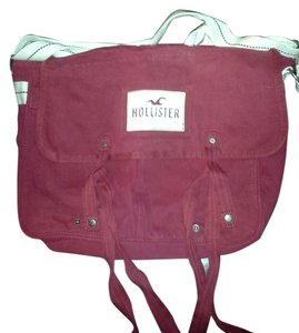 Hollister Burgundy Messenger Bag