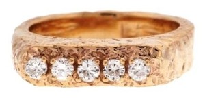 14k yellow gold 5 diamond 1/4 ct band/ring