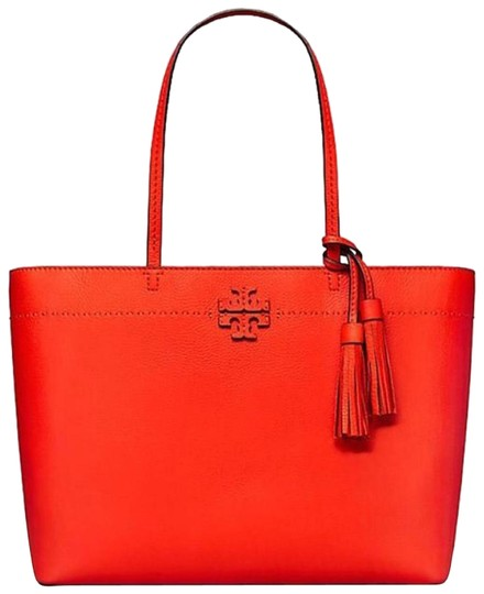 Preload https://img-static.tradesy.com/item/8763976/tory-burch-mcgraw-red-leather-tote-0-4-540-540.jpg