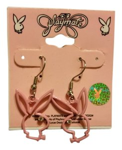 Playboy PLAYBOY BUNNY ORIGINAL CRYSTAL EYES BUNNY DANGLE EARRINGS NEW