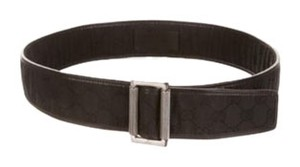 Gucci Gucci Black Leather and Canvas Belt Great Condition