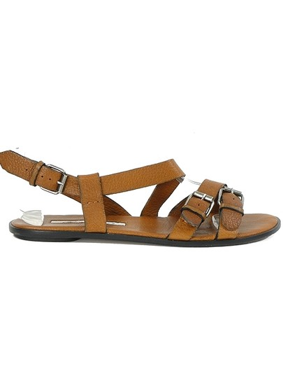 Brian Atwood Gladiator Belted Brown Sandals