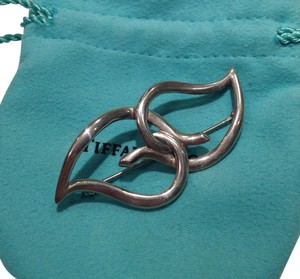 Tiffany & Co. Tiffany & Co. Sterling Silver Double Heart Pin Brooch