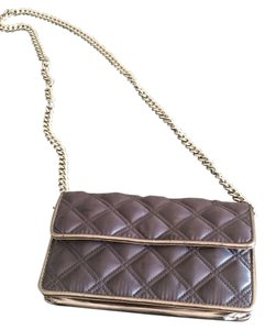 Marc by Marc Jacobs Quilted Satin Evening Charcoal Clutch