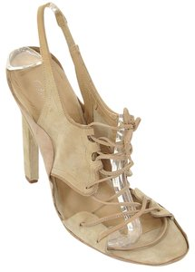 Calvin Klein Suede Lace-up Sandal Beige Sandals