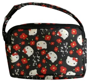 Hello Kitty Wallet Case Small Pouch Wristlet in Black/Red