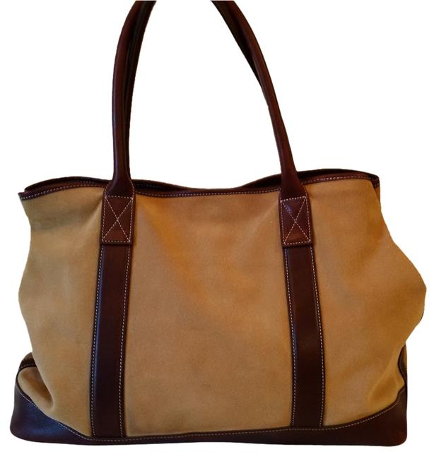 Item - Tan & Brown Suede and Leather Tote