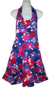 Hanna Andersson short dress Halter Cotton Floral Ruffle Summer on Tradesy