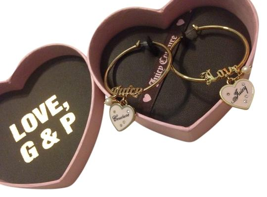 Juicy Couture Juicy couture gold hoop heart dangle earrings new in box
