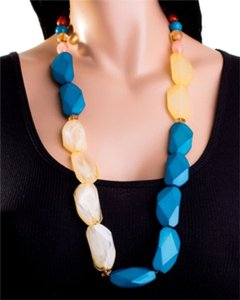TUTTI FASHION LARGE GEMSTONE NECKLACE