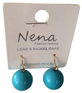 Nena Turquoise blue ball drop earrings