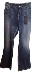 Torrid Embellished Relaxed Distressed Boot Cut Jeans-Medium Wash