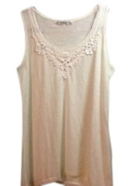 Preload https://item4.tradesy.com/images/french-laundry-cream-crystal-and-crochet-tank-tee-shirt-size-12-l-8773-0-0.jpg?width=400&height=650