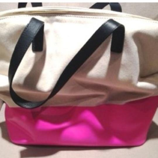 Kate Spade Rare New Satchel Handbag Purse Quote Call To Action Terry Is This Seat Taken Tote in pink Image 2