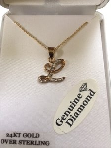 Diamond Initial Initial Letter Necklace
