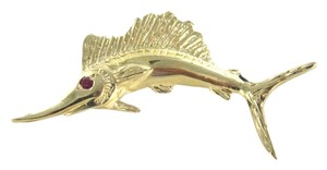 Other 14KT KARAT YELLOW GOLD PENDANT CHARM MARLIN FISH FINE JEWELRY FISHING SWORDFISH