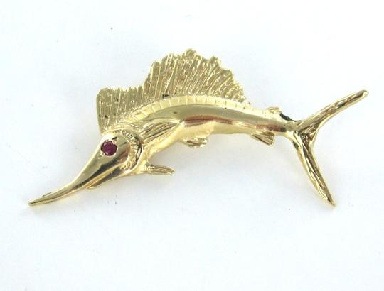 Other 14KT KARAT YELLOW GOLD PENDANT CHARM MARLIN FISH FINE JEWELRY FISHING SWORDFISH Image 1