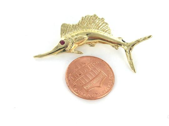 Other 14KT KARAT YELLOW GOLD PENDANT CHARM MARLIN FISH FINE JEWELRY FISHING SWORDFISH Image 2