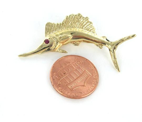 Other 14KT KARAT YELLOW GOLD PENDANT CHARM MARLIN FISH FINE JEWELRY FISHING SWORDFISH Image 5