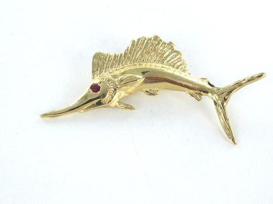 Other 14KT KARAT YELLOW GOLD PENDANT CHARM MARLIN FISH FINE JEWELRY FISHING SWORDFISH Image 6