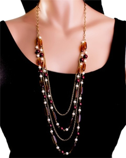 Preload https://img-static.tradesy.com/item/8776018/fashion-amber-beaded-layered-necklace-0-1-540-540.jpg