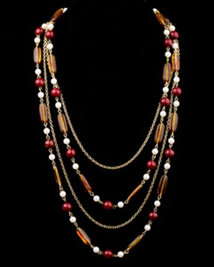 TUTTI FASHION AMBER BEADED LAYERED NECKLACE Image 1