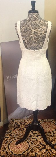 Watters & Watters Bridal Ivory Cotton and Polyester Encore 3685e Cacao Wedding Dress Size 8 (M)
