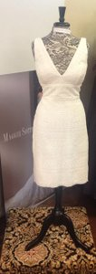Watters & Watters Bridal Ivory Cotton and Polyester Casual Wedding Dress Size 8 (M)