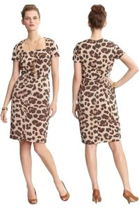 Banana Republic Leopard Animal Print Sheath Date Night Dress