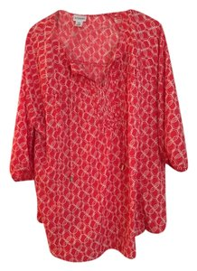 Motherhood Maternity Coral print maternity top