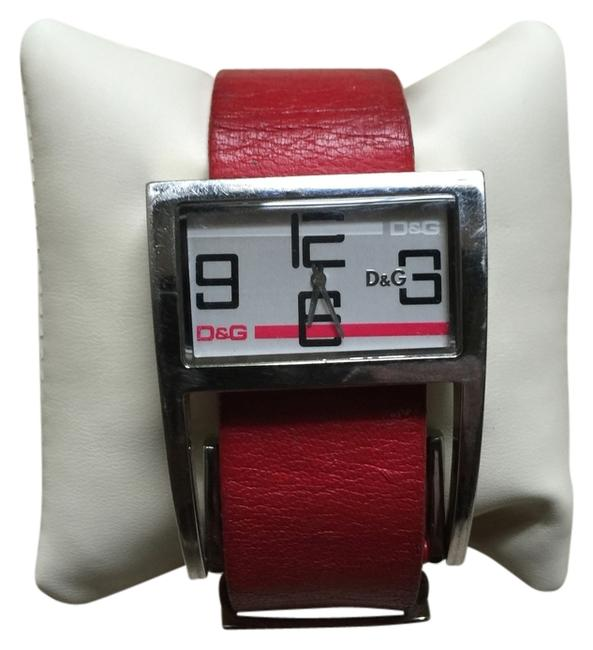 Item - Red D&g Adjustable Leather Wrist Watch