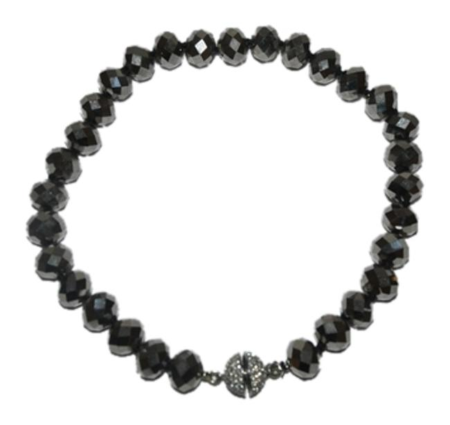 Kenneth Jay Lane Nickel New Faceted Bead Necklace Kenneth Jay Lane Nickel New Faceted Bead Necklace Image 1