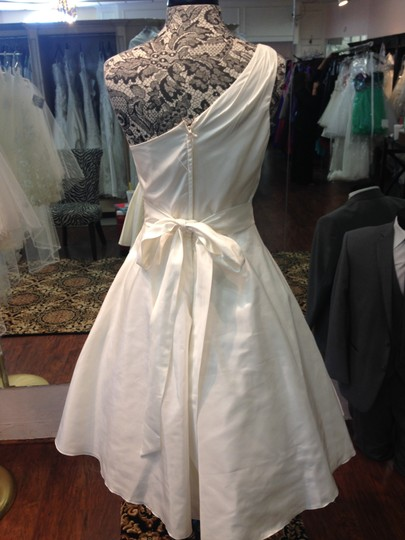 Moonlight Bridal Ivory Taffeta T561i Formal Wedding Dress Size 8 (M)