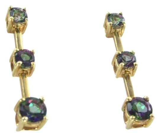 Other 14KT KARAT SOLID YELLOW GOLD EARRINGS MYSTIC TOPAZ 4.1 GRAMS GEMSTONE JEWELRY