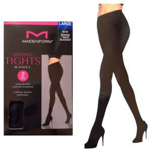 Maidenform NEW!! Maidenform Women's Black Tights Blackout 2pack Size Large