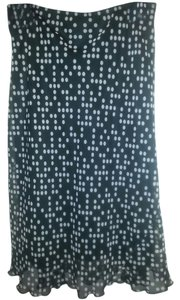 Tabloid Dot Skirt Black with white polka dots