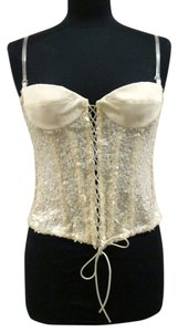 Krizia Italian Dinner Corset Top Off White
