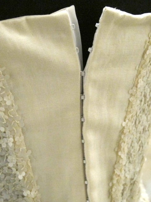 Krizia Italian Dinner Corset Pailettes Chic Date Party Sequin Christmas Gift Italy Top Off White