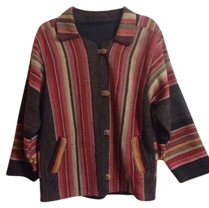 Vintage Tapestry Kilim Wool Spring multi color Jacket
