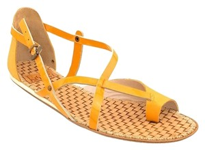 Kooba Leather Boho Yellow Sandals