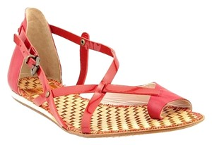 Kooba Leather Patent Leather Red Sandals