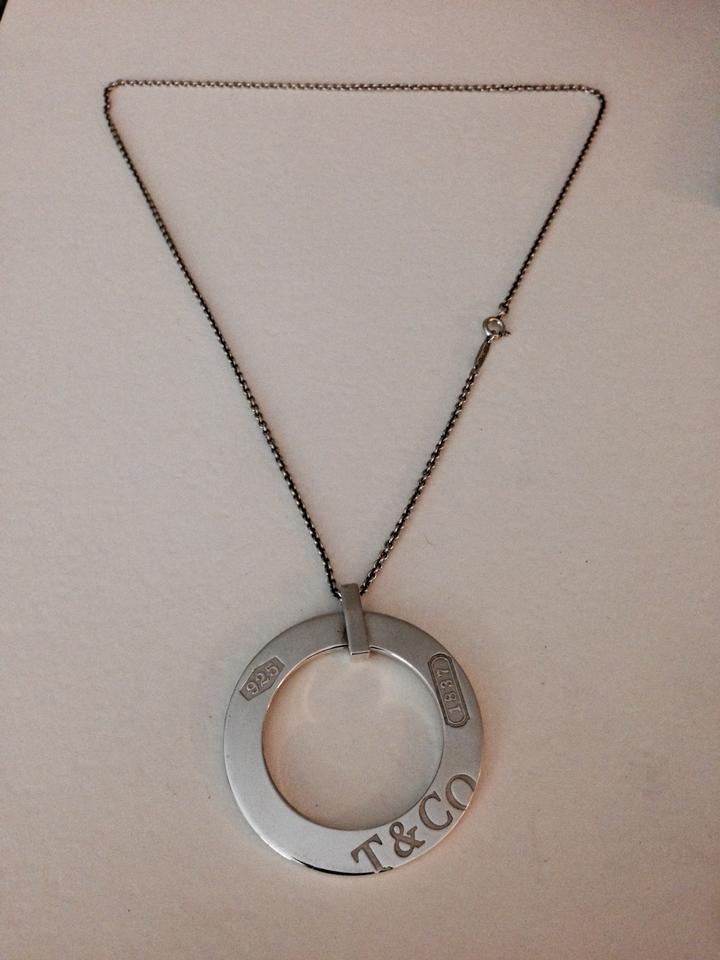 Tiffany co silver sterling 1837 circle pendant necklace tradesy audiocablefo