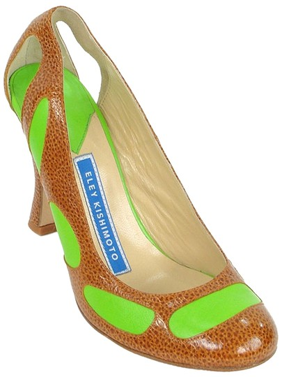 Preload https://img-static.tradesy.com/item/878240/brown-and-green-leather-cutout-pumps-size-us-10-0-0-540-540.jpg