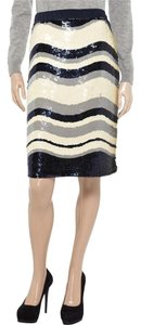 Tory Burch Skirt Navy Blue & Ivory
