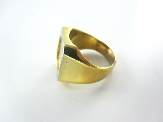 Other 18KT YELLOW SOLID GOLD COIN RING SZ7.5 DOS PESOS ESTADOS UNIDOS MEXICANOS 22KT