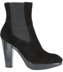 Hogan Boot Suede Black Boots