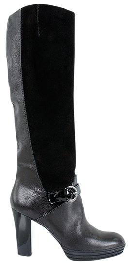 Preload https://img-static.tradesy.com/item/878387/hogan-black-leather-and-suede-knee-high-bootsbooties-size-us-75-0-0-540-540.jpg