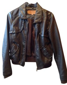 Miss Posh Brown Leather Jacket