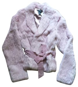 Shine Rabbit Fur Coat Fur Pink Jacket