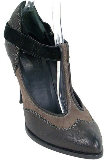 Jean-Paul Gaultier Leather Suede Black, Brown Pumps
